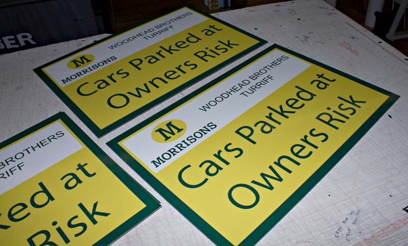 Morrisons Construction Parking signs by Addison Graphics